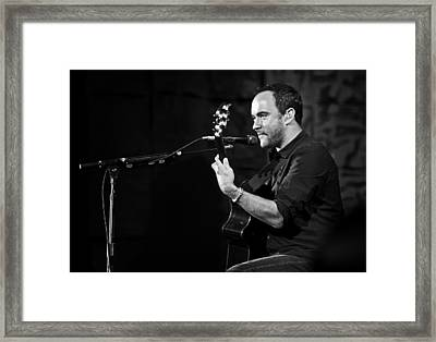 Dave Matthews On Guitar 7 Framed Print by Jennifer Rondinelli Reilly - Fine Art Photography