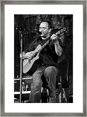 Dave Matthews On Guitar 9  Framed Print by Jennifer Rondinelli Reilly - Fine Art Photography