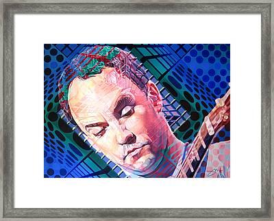 Dave Matthews Open Up My Head Framed Print by Joshua Morton