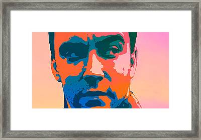 Dave Matthews Pop Art Framed Print