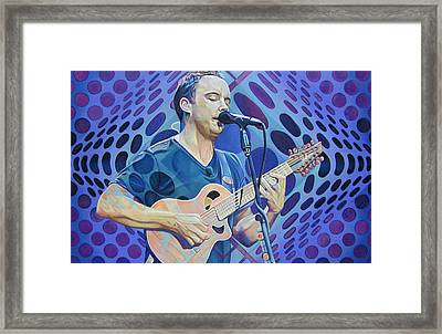 Dave Matthews Pop-op Series Framed Print by Joshua Morton