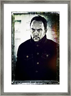 Dave Matthews Portrait 2 Framed Print by Jennifer Rondinelli Reilly - Fine Art Photography