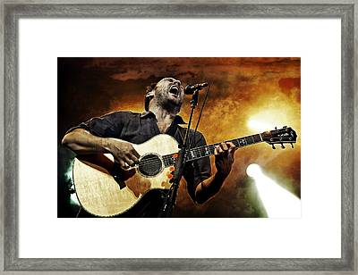 Dave Matthews Scream Framed Print