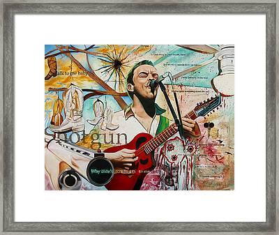 Dave Matthews Shotgun Framed Print by Joshua Morton
