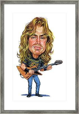 Dave Mustaine Framed Print by Art
