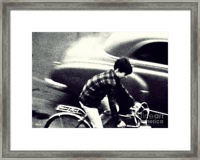 Dave On A Bike Framed Print by Patricia Strand