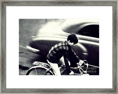 Dave On A Bike Framed Print