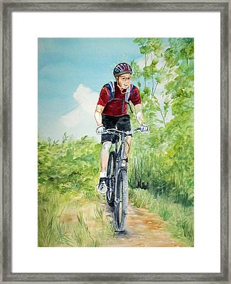 Dave On The Trail Framed Print