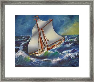 Daves' Ship Framed Print