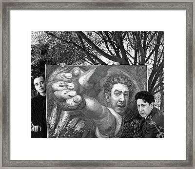 David Alfaro Siqueiros And Angelica Arenal De Framed Print by Horst P. Horst