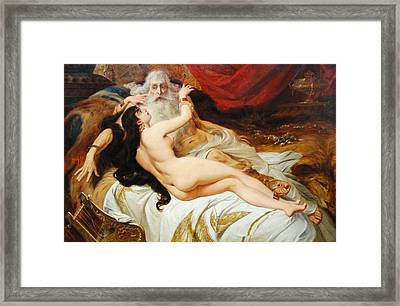 David And Abishag  Framed Print