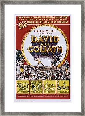 David And Goliath, Aka David E Golia Framed Print by Everett