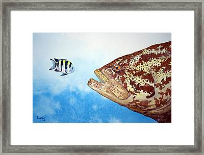 David And Goliath Framed Print by Jeff Lucas
