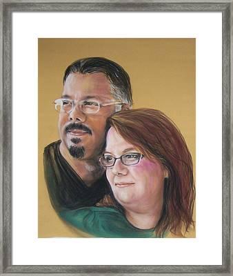 David And Laura Framed Print by Martha Suhocke
