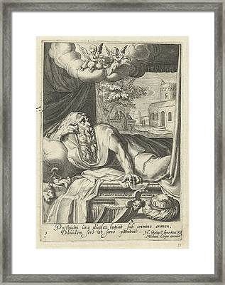 David As Penitent, Hugo De Groot, Michael Colyn Framed Print by Artokoloro