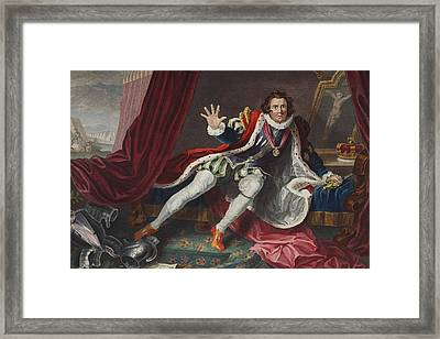 David As Richard IIi, Illustration Framed Print by William Hogarth