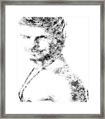 David Becham Paint Splatter 4a Framed Print
