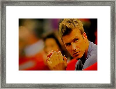 David Beckham 3c Framed Print