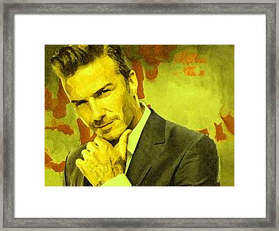 David Beckham Painting Framed Print