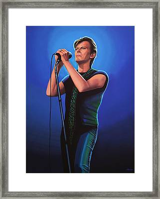 David Bowie 2 Painting Framed Print by Paul Meijering