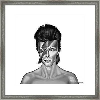 David Bowie Aladdin Sane Framed Print by Meijering Manupix