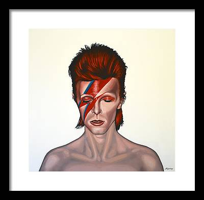 David Bowie Paintings Framed Prints