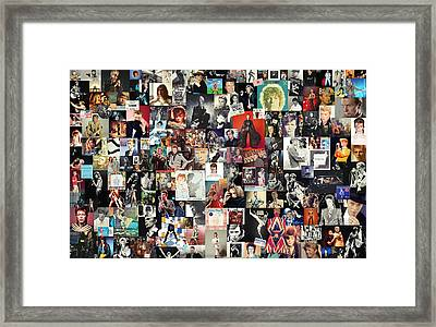 David Bowie Collage Framed Print by Taylan Apukovska