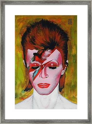 David Bowie Framed Print by Dan Haraga