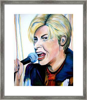 David Bowie Framed Print by Debi Starr