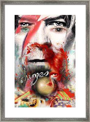 David Bowie Framed Print by Dray Van Beeck