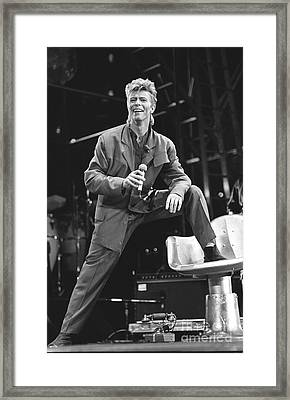 David Bowie Framed Print by Concert Photos