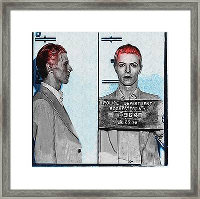 David Bowie Mug Shot Framed Print by Bill Cannon