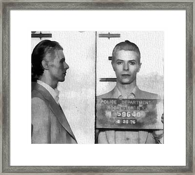 David Bowie Mug Shot Framed Print