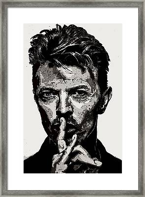 David Bowie - Pencil Framed Print