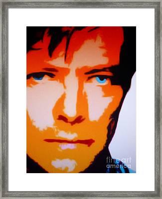 David Bowie Framed Print by Ryszard Sleczka