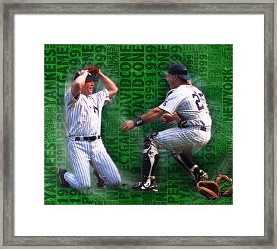 David Cone Yankees Perfect Game 1999 Zoom Framed Print