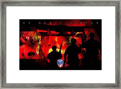 David Cook Los Angeles 187th Regiment Rakkasan Ne Desit Virtus Artwork Framed Print