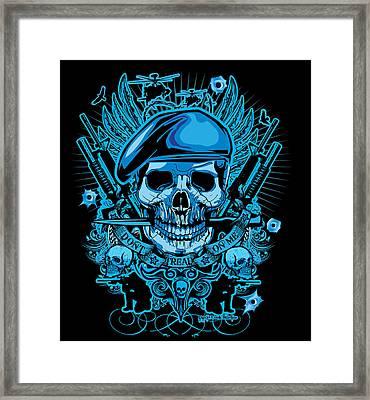 David Cook Studios Army Ranger Military Skull Art Framed Print by David Cook  Los Angeles Prints