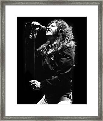 David Coverdale Framed Print by Sue Arber
