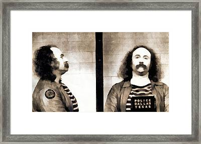 David Crosby Mugshot Framed Print by Dan Sproul