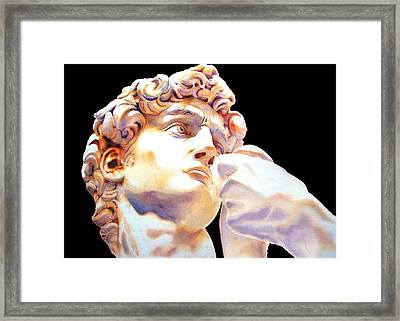 David Face By Michelangelo   Black Framed Print by J- J- Espinoza