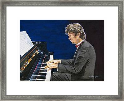 David Foster Symphony Sessions Portrait Framed Print by David Lloyd Glover
