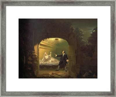 David Garrick And George Anne Bellamy In Romeo And Juliet Framed Print