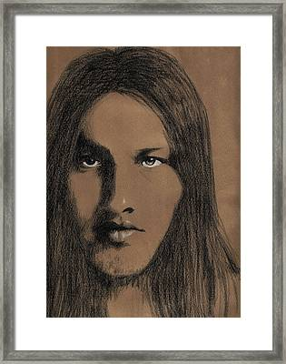David Gilmore Pink Floyd Framed Print by Dianne Sherrill