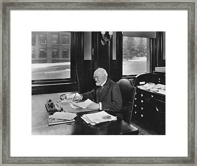 David Hale Fanning Framed Print by Underwood Archives
