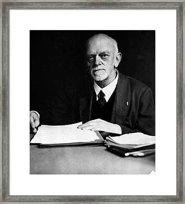 David Hilbert Framed Print by Emilio Segre Visual Archives/american Institute Of Physics
