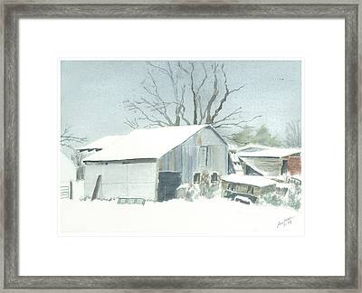 David Hoyles Shed Framed Print