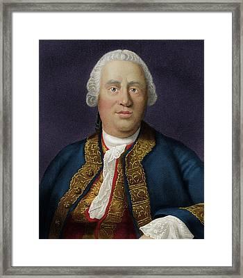 David Hume Framed Print by Maria Platt-evans