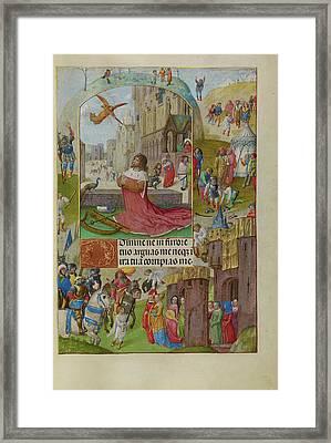 David In Prayer Master Of The Lübeck Bible Bruges Framed Print