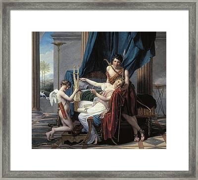 David, Jacques-louis 1748-1825. Sappho Framed Print by Everett